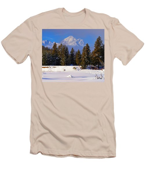 Peaking Through Men's T-Shirt (Slim Fit) by Greg Norrell