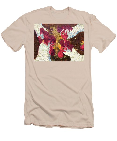 Men's T-Shirt (Slim Fit) featuring the painting Pecking Order by Jame Hayes
