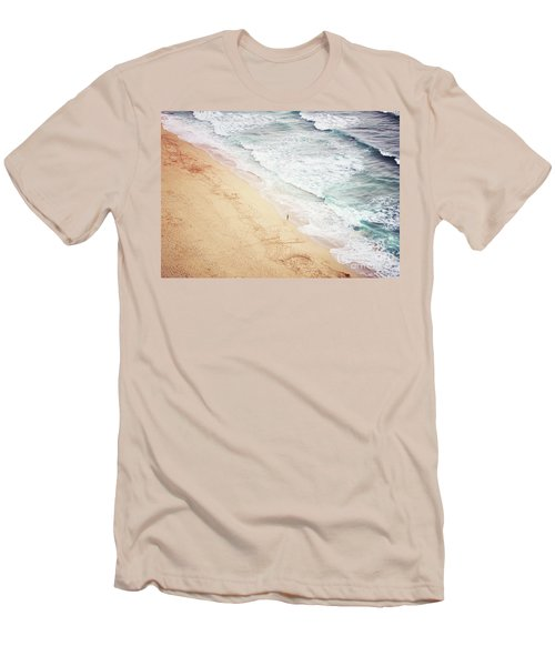 Men's T-Shirt (Slim Fit) featuring the photograph Pedn Vounder by Lyn Randle