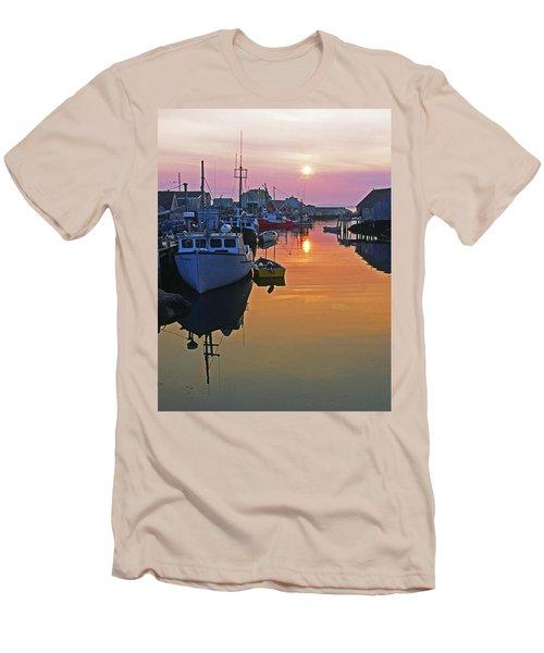 Peggy's Cove Sunset, Nova Scotia, Canada Men's T-Shirt (Athletic Fit)