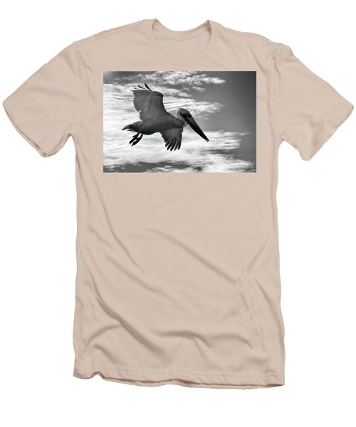 Pelican In Flight Men's T-Shirt (Slim Fit) by AJ Schibig