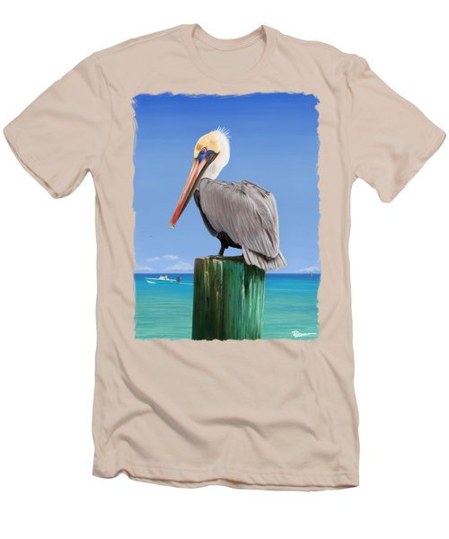 Pelicans Post Men's T-Shirt (Slim Fit) by Kevin Putman