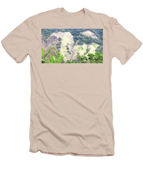 Penuelas, Puerto Rico Mountains Men's T-Shirt (Athletic Fit)