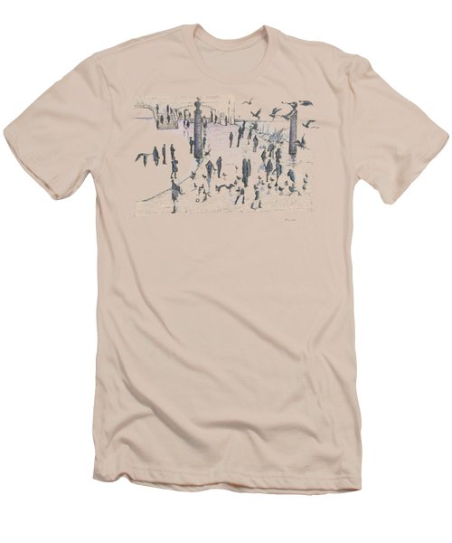 People And Birds, 19 December, 2015 Men's T-Shirt (Slim Fit) by Tatiana Chernyavskaya