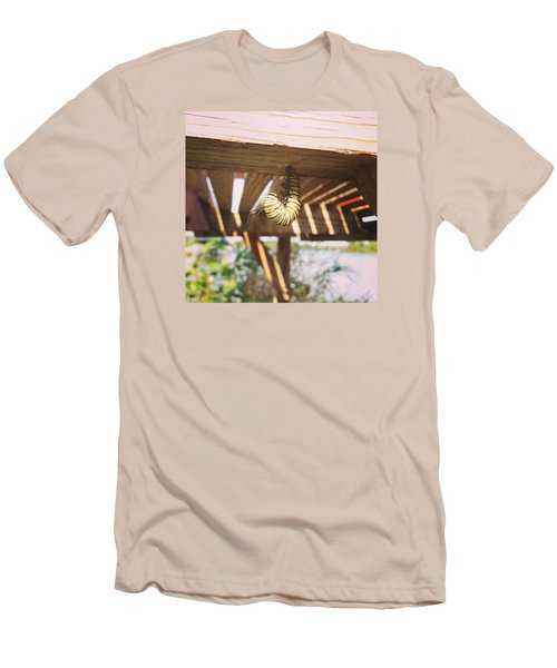 Men's T-Shirt (Slim Fit) featuring the photograph Peparing For Transformation by Rebecca Wood