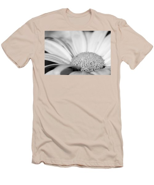 Men's T-Shirt (Slim Fit) featuring the photograph Petals - Black And White by Angela Rath