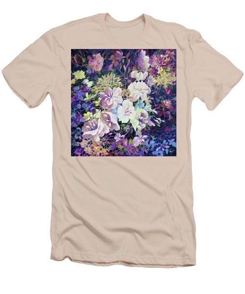 Men's T-Shirt (Slim Fit) featuring the painting Petals by Joanne Smoley
