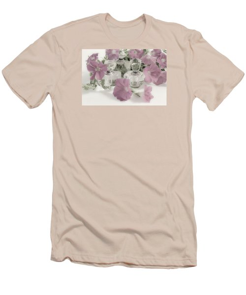 Petunias And Perfume - Soft Men's T-Shirt (Slim Fit) by Sandra Foster