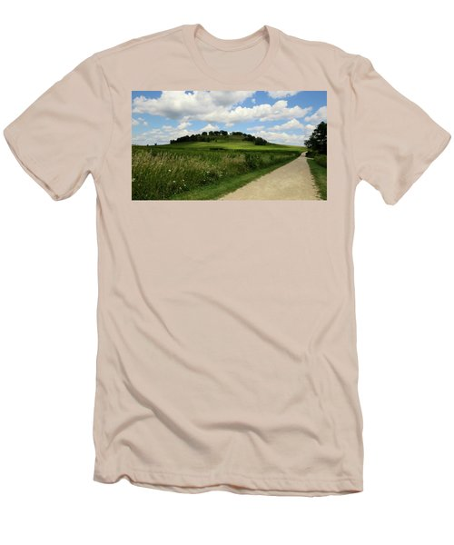 Pheasant Branch Hill Men's T-Shirt (Slim Fit) by Kimberly Mackowski