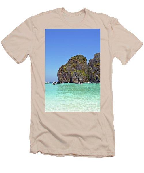 Men's T-Shirt (Slim Fit) featuring the digital art Phi Phi Islands by Eva Kaufman