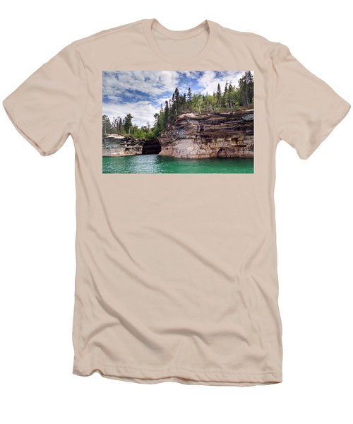 Pictured Rocks Men's T-Shirt (Athletic Fit)