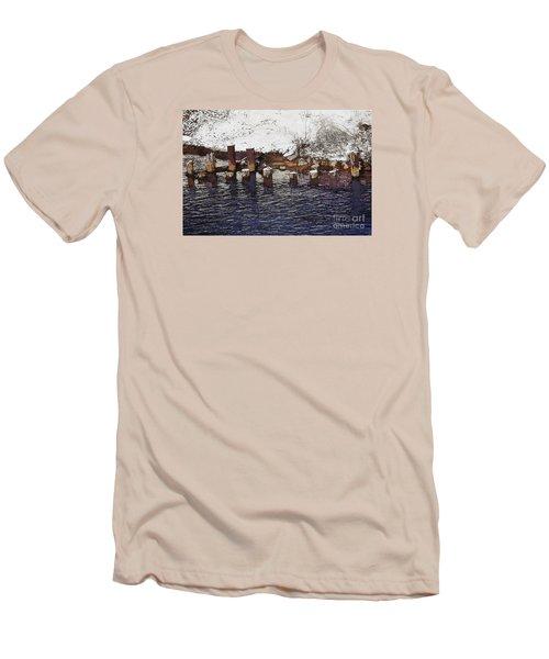 Pier Piles Men's T-Shirt (Slim Fit) by David Blank