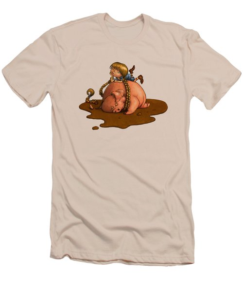 Pig Tales Men's T-Shirt (Slim Fit) by Andy Catling