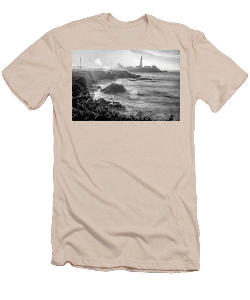 Pigeon Point Rocky Shore Men's T-Shirt (Athletic Fit)
