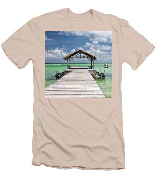Pigeon Point, Tobago#pigeonpoint Men's T-Shirt (Slim Fit) by John Edwards