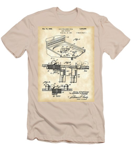 Pinball Machine Patent 1939 - Vintage Men's T-Shirt (Slim Fit) by Stephen Younts