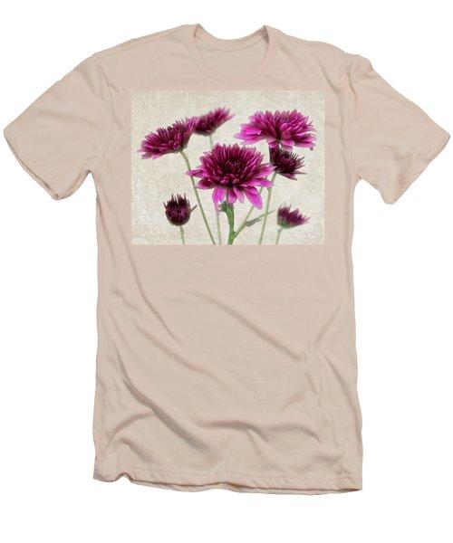 Pink Bouquet Men's T-Shirt (Slim Fit) by Judy Vincent