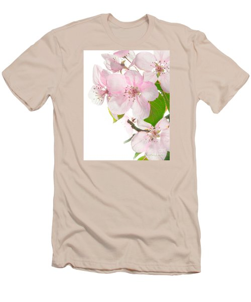 Pink Crabapple Blissoms Men's T-Shirt (Slim Fit) by David Perry Lawrence