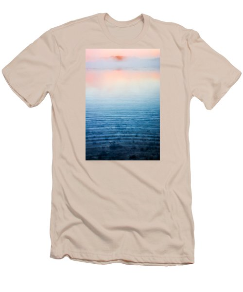 Pink Fog At Sunrise Men's T-Shirt (Slim Fit) by Shelby  Young