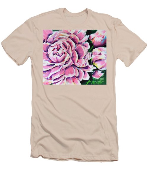 Pink Peonies Men's T-Shirt (Athletic Fit)