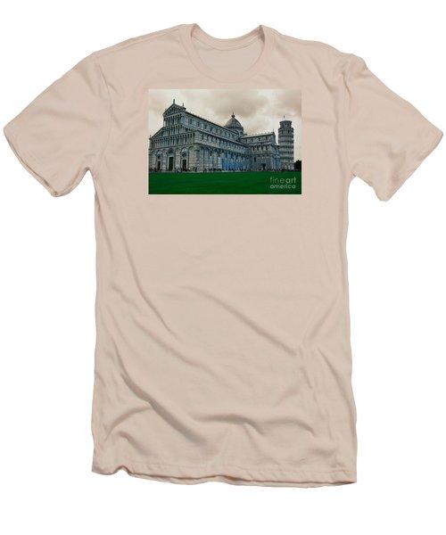 Pisa Men's T-Shirt (Slim Fit) by Ramona Matei