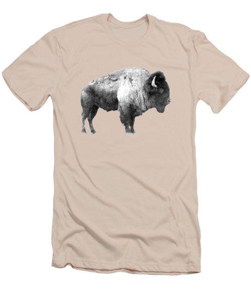 Plains Bison Men's T-Shirt (Slim Fit) by Jim Sauchyn