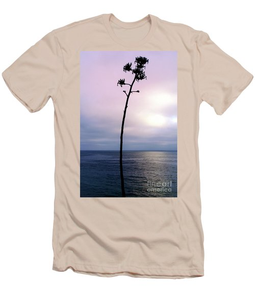 Men's T-Shirt (Slim Fit) featuring the photograph Plant Silhouette Over Ocean by Mariola Bitner