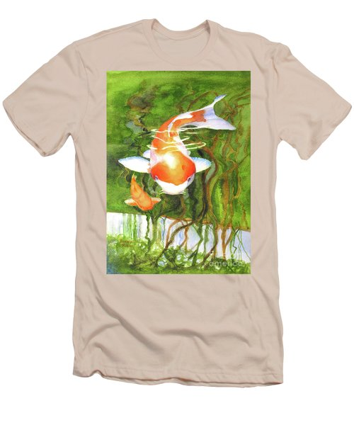 Play Koi With Me Men's T-Shirt (Slim Fit) by Bonnie Rinier
