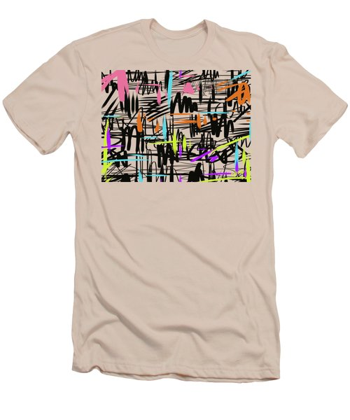 Playful Scribbles Men's T-Shirt (Athletic Fit)