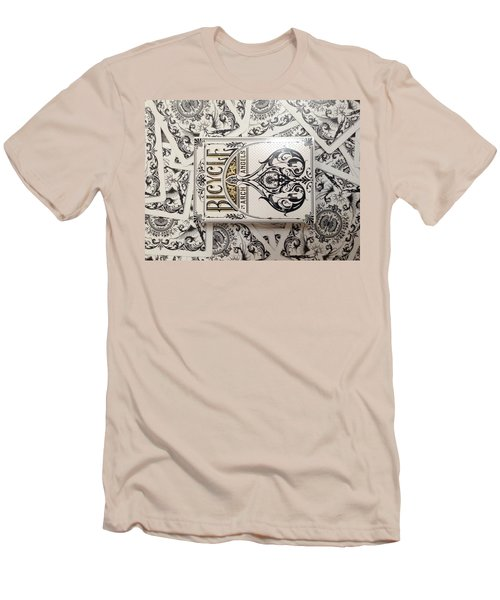 Playing Cards Men's T-Shirt (Slim Fit) by Sheila Mcdonald
