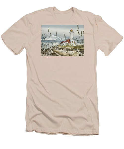Point Wilson Lighthouse Men's T-Shirt (Slim Fit) by James Williamson