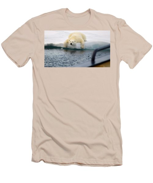 Polar Bear Says 'huh' Men's T-Shirt (Athletic Fit)