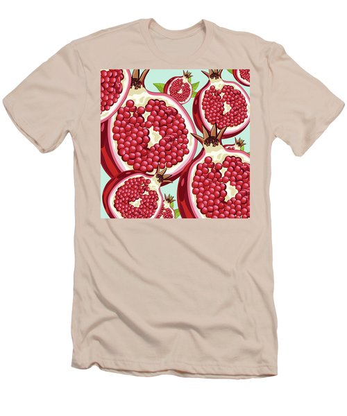 Pomegranate   Men's T-Shirt (Slim Fit) by Mark Ashkenazi