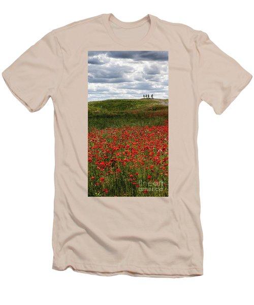 Poppy Field Men's T-Shirt (Athletic Fit)