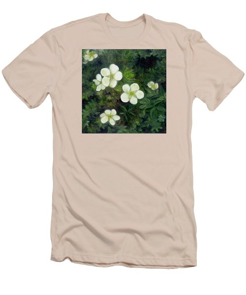 Potentilla Men's T-Shirt (Slim Fit) by FT McKinstry