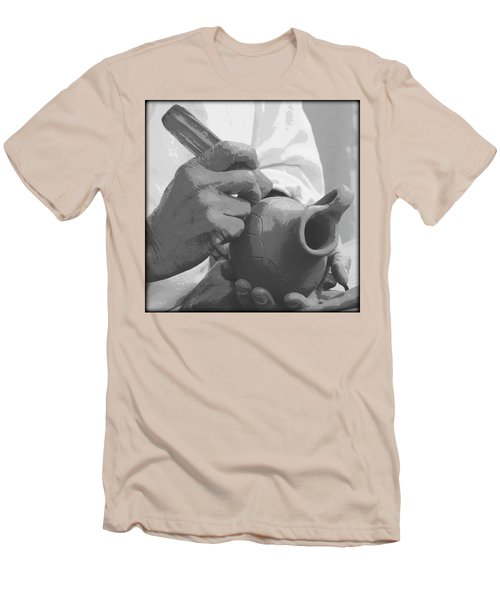 Men's T-Shirt (Slim Fit) featuring the photograph Pottery by Tammy Schneider