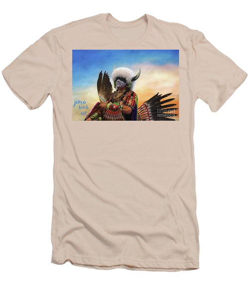 Men's T-Shirt (Slim Fit) featuring the photograph Pow Wow 3 by Jim  Hatch