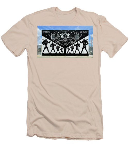 Power And Glory Men's T-Shirt (Slim Fit) by Keith Armstrong