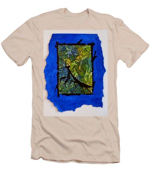 Praying Mantis Silhouette Men's T-Shirt (Athletic Fit)