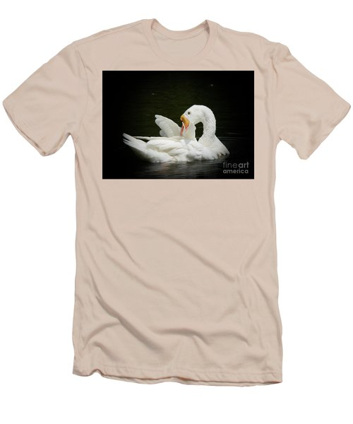 Preening Men's T-Shirt (Slim Fit) by Lisa L Silva