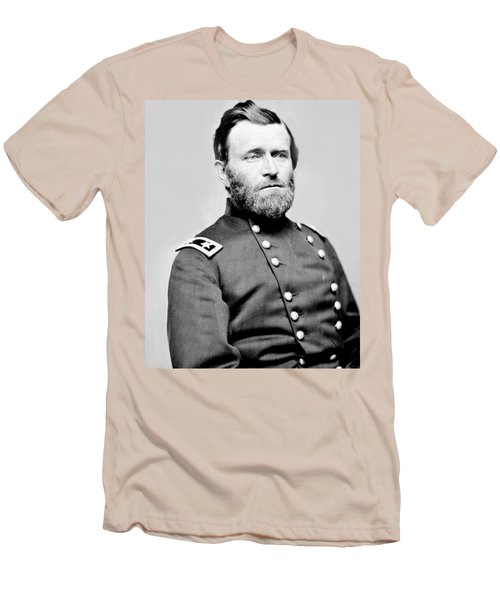 President Ulysses S Grant In Uniform Men's T-Shirt (Slim Fit) by International  Images