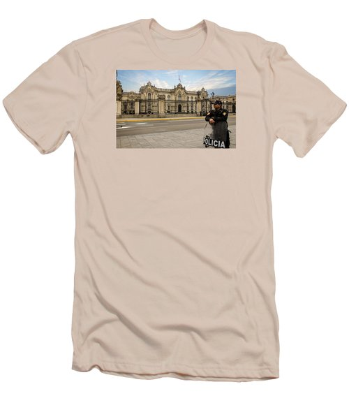 Presidential Palace In Lima Men's T-Shirt (Athletic Fit)