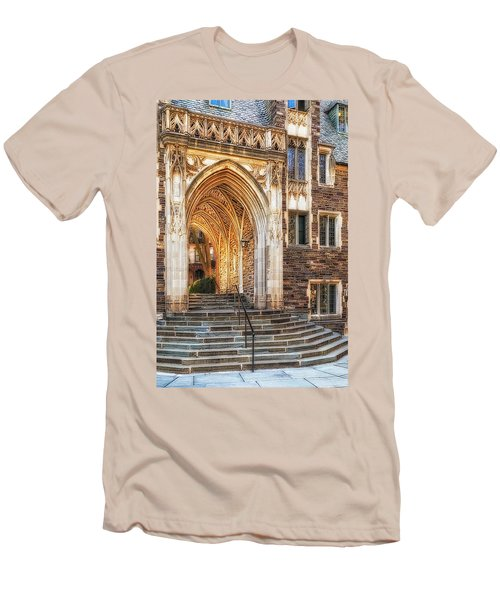 Men's T-Shirt (Slim Fit) featuring the photograph Princeton University Lockhart Hall Dorms by Susan Candelario