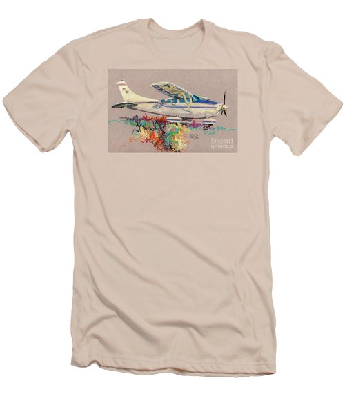 Private Plane Men's T-Shirt (Slim Fit) by Donald Maier