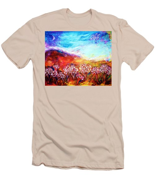 Men's T-Shirt (Athletic Fit) featuring the painting Promise by Winsome Gunning