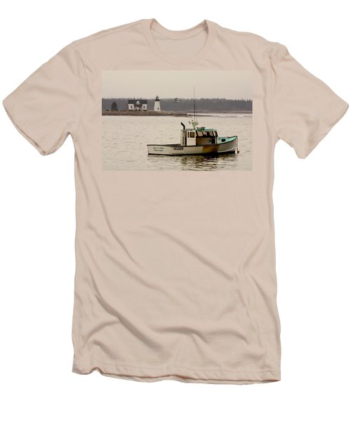 Prospect Harbor Lighthouse Men's T-Shirt (Athletic Fit)