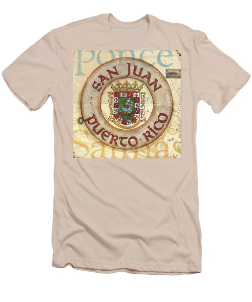 Puerto Rico Coat Of Arms Men's T-Shirt (Athletic Fit)