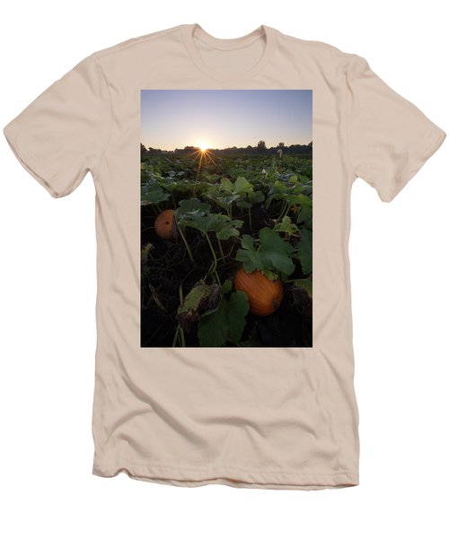 Men's T-Shirt (Slim Fit) featuring the photograph Pumpkin Patch by Aaron J Groen