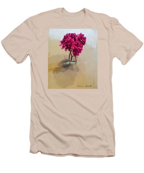 Purple Dahlias Men's T-Shirt (Athletic Fit)