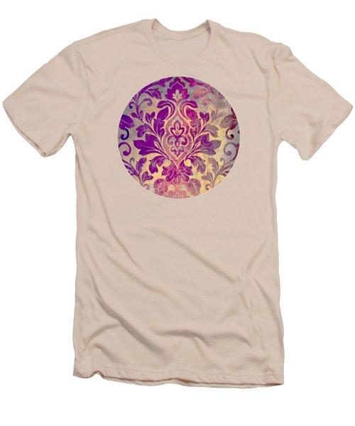 Purple Damask Pattern Men's T-Shirt (Athletic Fit)
